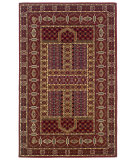 RugStudio presents Linon Gem Belouch Red / Ivory Machine Woven, Good Quality Area Rug