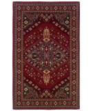 RugStudio presents Linon Gem Heriz Red / Gold Machine Woven, Good Quality Area Rug