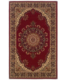 RugStudio presents Linon Gem Ferrehan Red / Ivory Machine Woven, Good Quality Area Rug