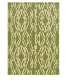 RugStudio presents Linon Le Soleil Ls01 Green - Ivory Hand-Tufted, Good Quality Area Rug