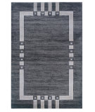 RugStudio presents Linon Milan Mn01 Black / Ivory Machine Woven, Good Quality Area Rug