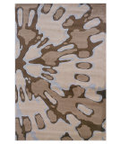 RugStudio presents Linon Milan Mn07 Ivory / Brown Machine Woven, Good Quality Area Rug