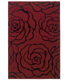 RugStudio presents Linon Milan Mn08 Garnet / Black Machine Woven, Good Quality Area Rug