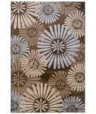 RugStudio presents Linon Milan Mn10 Brown / Blue Machine Woven, Good Quality Area Rug