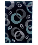 RugStudio presents Linon Milan Mn12 Black / Turquoise Machine Woven, Good Quality Area Rug