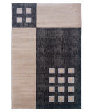 RugStudio presents Linon Milan Mn13 Black / Ivory Machine Woven, Good Quality Area Rug