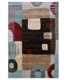 RugStudio presents Linon Milan Mn15 Black / Garnet Machine Woven, Good Quality Area Rug