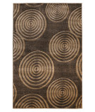 RugStudio presents Linon Milan Mn20 Brown / Beige Machine Woven, Good Quality Area Rug