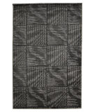 RugStudio presents Linon Milan Mn24 Black / Grey Machine Woven, Good Quality Area Rug