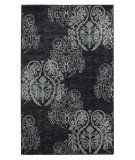 RugStudio presents Linon Milan Mn25 Black / Turquoise Machine Woven, Good Quality Area Rug