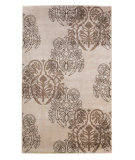 RugStudio presents Linon Milan Mn27 Ivory / Brown Machine Woven, Good Quality Area Rug