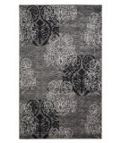 RugStudio presents Linon Milan Mn28 Grey / Black Machine Woven, Good Quality Area Rug