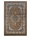 RugStudio presents Linon Milan Mn51 Brown / Ivory Machine Woven, Good Quality Area Rug