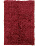 RugStudio presents Linon 3a Flokati Flk-3ar01 2000grams / Red Area Rug