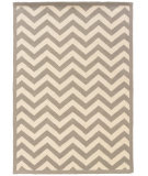RugStudio presents Linon Silhouette Sh01 Grey - White Hand-Hooked Area Rug