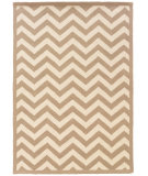 RugStudio presents Linon Silhouette Sh02 Beige - White Hand-Hooked Area Rug