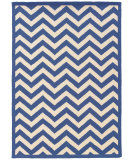 RugStudio presents Linon Silhouette Sh03 Navy - White Hand-Hooked Area Rug