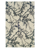 RugStudio presents Linon Ashton Slsg53 Ivory - Grey Hand-Tufted, Better Quality Area Rug