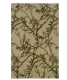 RugStudio presents Linon Ashton Slsg54 Beige / Olive Hand-Tufted, Better Quality Area Rug