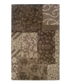RugStudio presents Linon Ashton Slsg57 Brown / Cream Hand-Tufted, Better Quality Area Rug