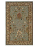 RugStudio presents Linon Soumak Slsg82 Ice Blue / Pale Gold Hand-Tufted, Better Quality Area Rug