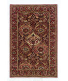 RugStudio presents Linon Rosedown Slww102 Burgundy / Coral Hand-Tufted, Better Quality Area Rug