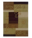 RugStudio presents Linon Trio Ta020 Beige / Brown Hand-Tufted, Good Quality Area Rug