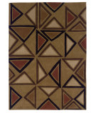 RugStudio presents Linon Trio Ta054 Camel / Brick Hand-Tufted, Good Quality Area Rug