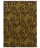 RugStudio presents Linon Trio Ta060 Green / Brown Hand-Tufted, Good Quality Area Rug
