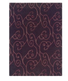 RugStudio presents Linon Trio Ta062 Chocolate / Violet Hand-Tufted, Good Quality Area Rug