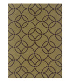 RugStudio presents Linon Trio Ta063 Wasabi / Chocolate Hand-Tufted, Good Quality Area Rug