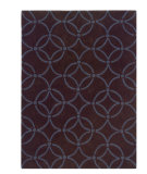 RugStudio presents Linon Trio Ta065 Chocolate / Blue Hand-Tufted, Good Quality Area Rug