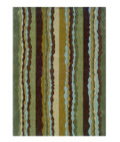 RugStudio presents Linon Trio Ta066 Green / Spa Blue Hand-Tufted, Good Quality Area Rug