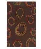 RugStudio presents Linon Trio Ta082 Chocolate / Rust Hand-Tufted, Good Quality Area Rug