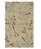 RugStudio presents Linon Trio Ta088 Beige / Blue Hand-Tufted, Good Quality Area Rug