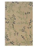 RugStudio presents Linon Trio Ta288 Beige / Pale Blue Hand-Tufted, Good Quality Area Rug