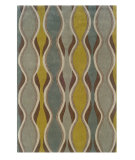 RugStudio presents Linon Trio Tab009 Chocolate / Spa Blue Hand-Tufted, Good Quality Area Rug