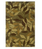 RugStudio presents Linon Trio Tab013 Green / Brown Hand-Tufted, Good Quality Area Rug