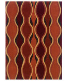 RugStudio presents Linon Trio Tab015 Rust / Pumpkin Hand-Tufted, Good Quality Area Rug