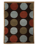 RugStudio presents Linon Trio Tab201 Brown / Pale Blue Hand-Tufted, Good Quality Area Rug