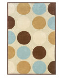 RugStudio presents Linon Trio Tab203 Tan / Ice Blue Hand-Tufted, Good Quality Area Rug