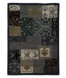 RugStudio presents Linon Trio Tab220 Blue / Grey Area Rug
