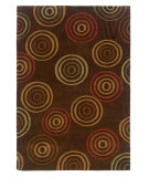 RugStudio presents Linon Trio Tab301 Chocolate / Terracotta Hand-Tufted, Good Quality Area Rug