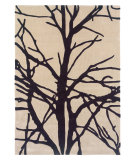 RugStudio presents Linon Trio Tab321 Cream / Charcoal Hand-Tufted, Good Quality Area Rug