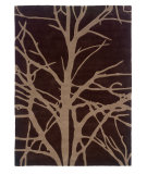 RugStudio presents Linon Trio Tab322 Chocolate / Tan Hand-Tufted, Good Quality Area Rug