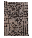 RugStudio presents Linon Trio Tab323 Chocolate / Sand Hand-Tufted, Good Quality Area Rug