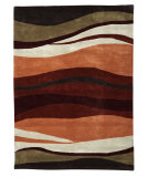 RugStudio presents Linon Trio Tab326 Garnet / Orange Hand-Tufted, Good Quality Area Rug