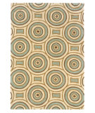 RugStudio presents Linon Trio Tab328 Cream / Aqua Hand-Tufted, Good Quality Area Rug