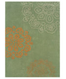 RugStudio presents Linon Trio Tab32 Pale Green / Gold Hand-Tufted, Good Quality Area Rug