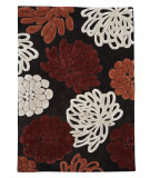 RugStudio presents Linon Trio Tad10 Chocolate / Garnet Hand-Tufted, Good Quality Area Rug